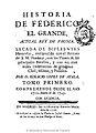 Historia de Federico el grande actual Rey de Prusia 1768 d2.jpg