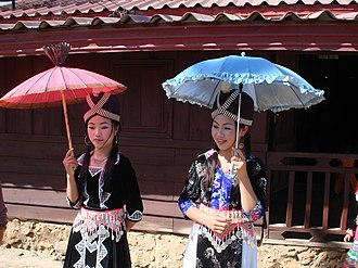 Hill tribe (Thailand) - Hmong women celebrating New Year