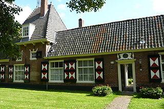 Hofje van Willem Heythuijsen hofje in Haarlem, Netherlands