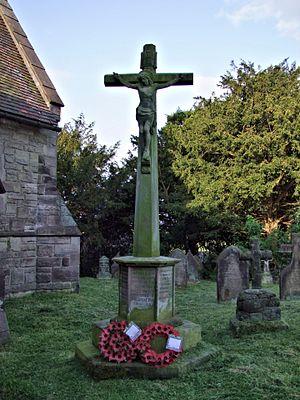 Hollington, Staffordshire - Hollington war memorial