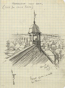 Hombleaux near Ham (sketch from Church Tower), April 16th 1917 Art.IWMART4878.jpg