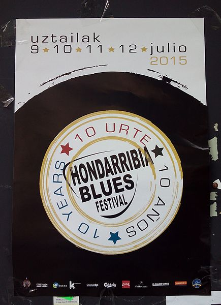 Banner announcing a blues festival in the Basque Country Author: Ecapg