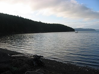 Hood Canal - Hood Canal from Camp Parsons Boy Scout Camp