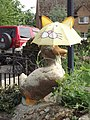 Horley duck with umbrella - geograph.org.uk - 435069.jpg