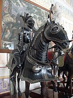 Horse Knight Armor, Hermitage hall 243 (The Knight's hall).jpg