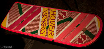 English: A Hoverboard (or hover board) is a fi...