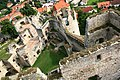 Hrad Rabí s hradním kostelem Nejsvětější Trojice, část stojící, část zřícenina a archeologické stopy (Rabí) (14).jpg
