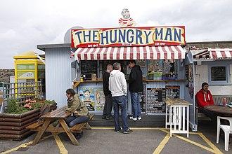 Vingtaine de Rozel - The Hungry Man in the harbour of Rozel (Jersey).