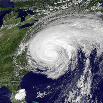 Hurricane Irene - Hurricane Irene shortly after landfall in the Outer Banks of North Carolina