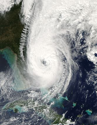 Meteorological history of Hurricane Wilma - Wilma after leaving Florida for the waters of the Atlantic Ocean