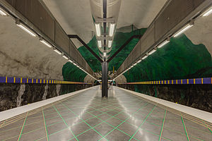 Huvudsta metro station - Image: Huvudsta May 2014 02