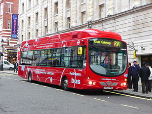 First London - London's first HyFLEET:CUTE hydrogen fuel cell bus, a Wright Pulsar 2 bodied VDL SB200, on route RV1 at Covent Garden in January 2011