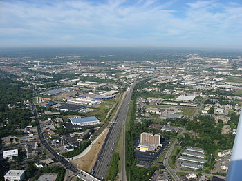 Aerial view of Interstate 275 in the city of S...