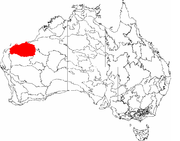 The IBRA regions, with Pilbara in red