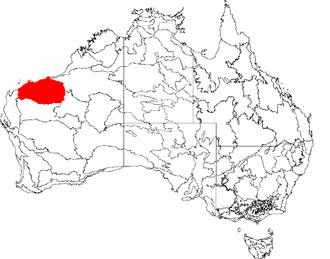 Vaalbara - Current locations of Kaapvaal and Pilbara cratons