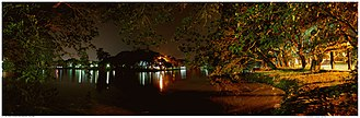 Indian Institute of Management Calcutta - Image: IIM Calcutta Lakes 1 Night Scene