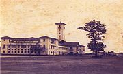 The office of the Hijli Detention Camp (photographed September 1951) served as the first academic building of IIT Kharagpur.