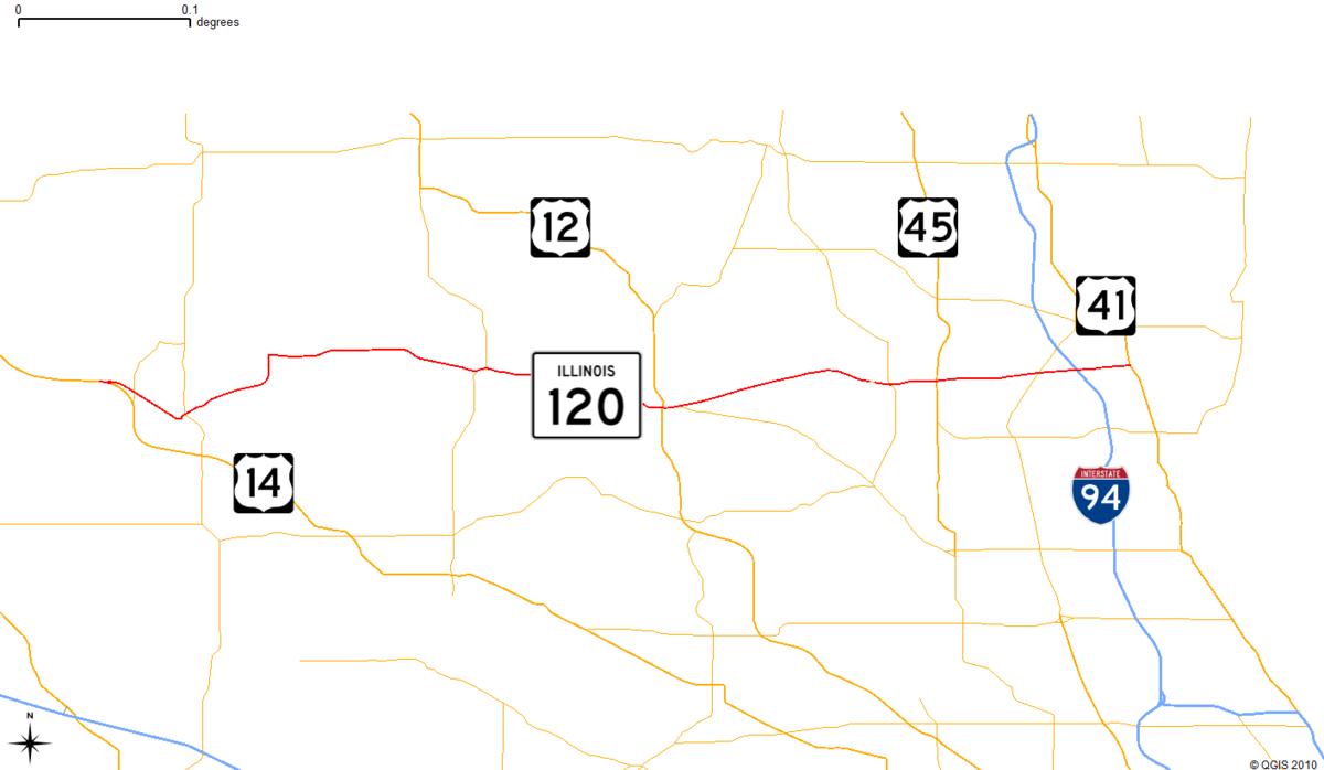 Illinois Route  Wikipedia - Map of illinois tollway system