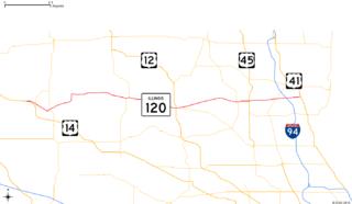 Illinois Route 120 highway in Illinois