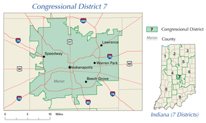 United States House of Representatives elections in Indiana, 2006 - Image: IN 7th