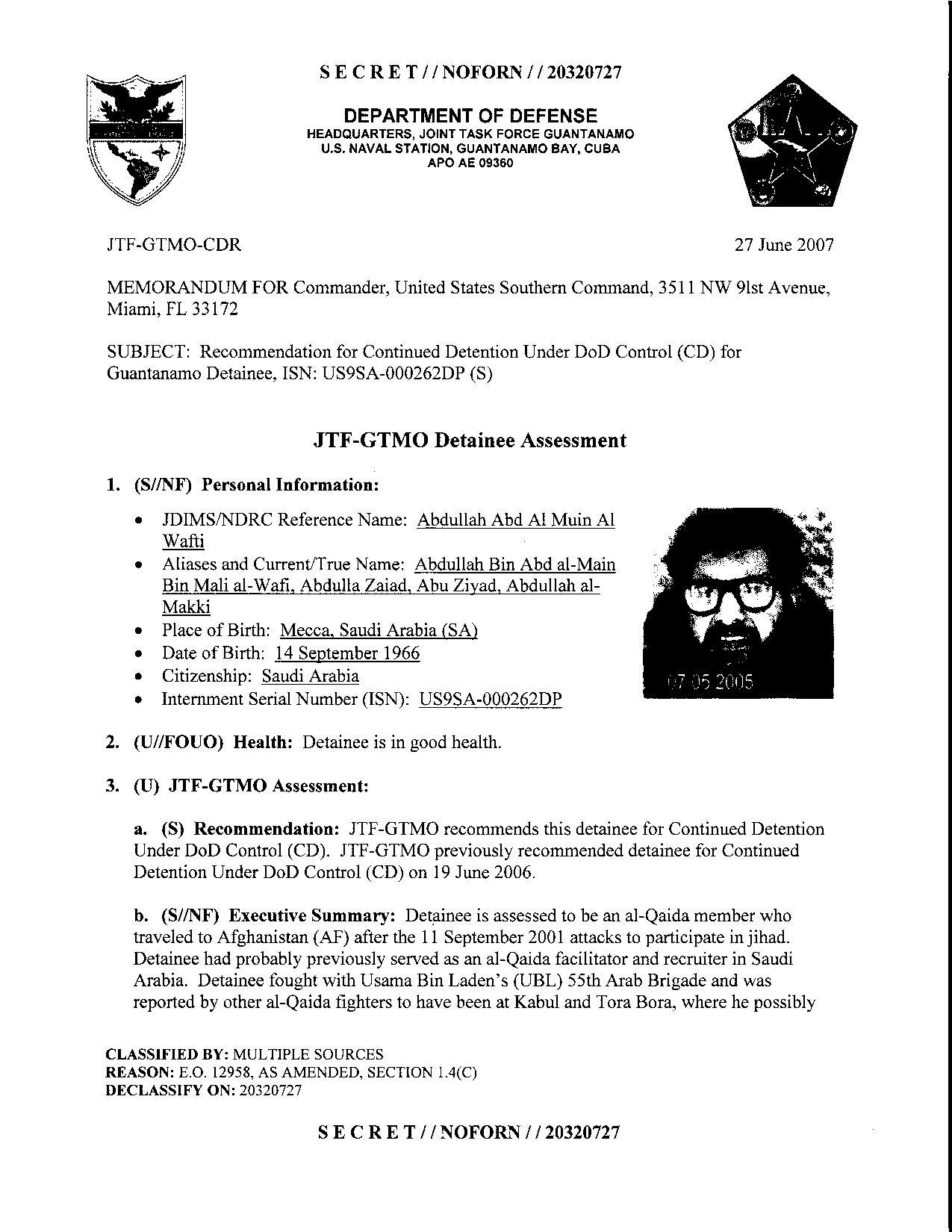 ISN 262's Guantanamo detainee assessment.pdf