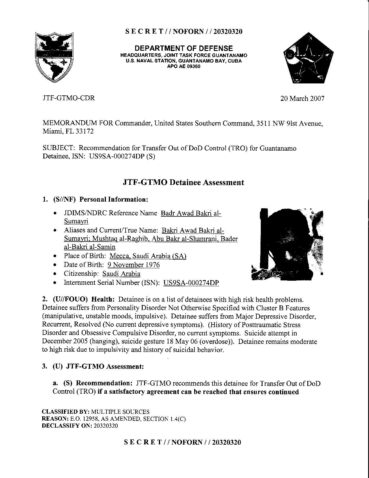 ISN 274's Guantanamo detainee assessment.pdf
