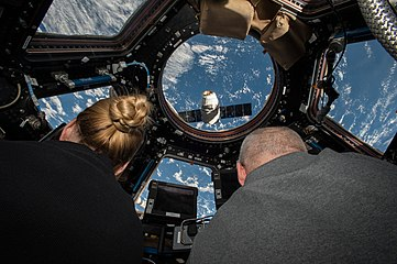ISS-48 Kate Rubins and Jeff Williams grapple SpaceX Dragon CRS-9.jpg