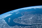 ISS-59 Canada, Saint Lawrence River and Gulf of St. Lawrence.jpg