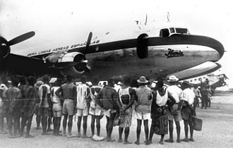 History of Iberia (airline) - Inaugural flight to Bata (Ecuatorial Guinea) in 1941.