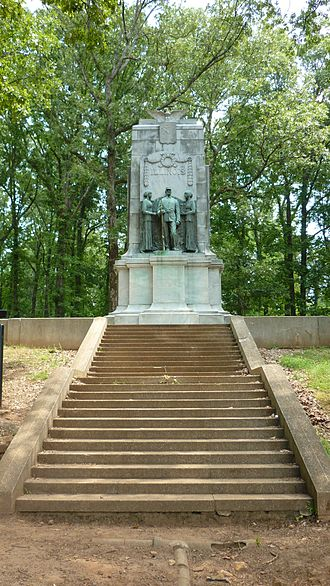 Kennesaw Mountain National Battlefield Park - Monument to Illinois soldiers at Cheatham Hill (The Dead Angle)