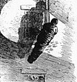 Illustration depicting a wrapped corpse being lowered by rope from the Asch Building following the Triangle fire (5279145839).jpg