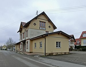 Ilsfeld - Former station, photographed in 2013