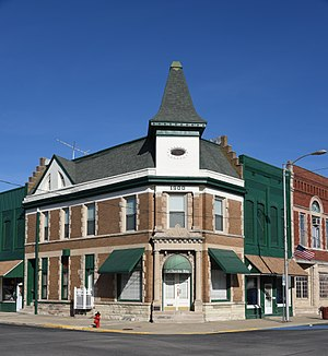 Assumption, Illinois - The Illinois State Bank Building located at 201 N. Chestnut St.