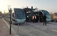 Inauguration de la branche vers Vieux-Condé de la ligne B du tramway de Valenciennes le 13 décembre 2013 (034).JPG