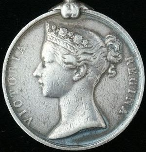 India General Service Medal (1854) - Image: India General Service Medal 1854 obv