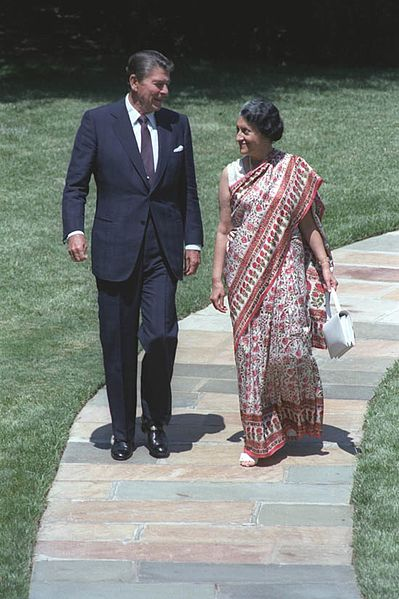 File:Indian Prime Minister Indira Gandhi with U.S President Ronald Reagan in 1982.jpg