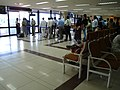 Indian travellers queue up at the airport in New Delhi 2.jpg