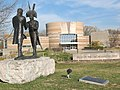Indiana's Historic Pathways - Lewis and Clark Sculpture at Falls of the Ohio State Park - NARA - 7719557.jpg