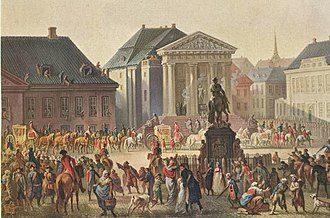 1790 in Norway - 4 September: Crown Prince Frederick's and Crown Princess Marie Sophie's arrival at Copenhagen