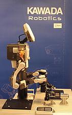 Innorobo 2015 - Kawada Robotics - Nextage-001.JPG
