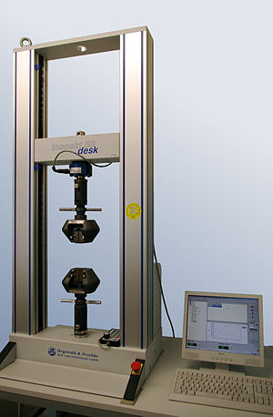 Package testing - Materials and components are often evaluated on a universal testing machine