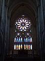 Interior de la Catedral de La Plata VI - Rosetón y órgano.JPG