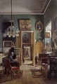 Interior of the Painter's Home in Stockholm (Carl Stefan Bennet) - Nationalmuseum - 18335.tif