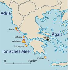 græske øer kort
