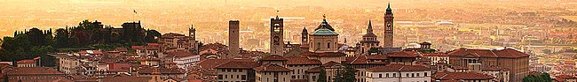 Italy banner Sunrise at Bergamo old town, Lombardy, Italy.jpg