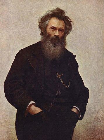 Иван Николаевич Крамской. Портрет художника Шишкина. (1880, Русский музей)