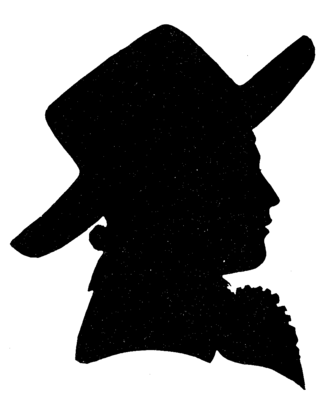 Göttinger Hainbund - Silhouette of Joseph Martin Kraus, cut when he was at Göttingen