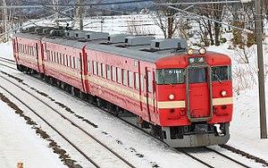 Sasshō Line - Image: JNR 711 series EMU 005