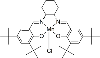 Salen ligand - Jacobsen's salen-Mn catalyst.