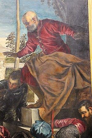 Miracle of the Slave (Tintoretto) - Image: Jacopo tintoretto, san marco libera uno schiavo, 1547 48, da capitolo della scuola grande di s.marco 11